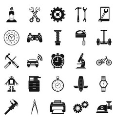 facilitie icons set simple style vector image