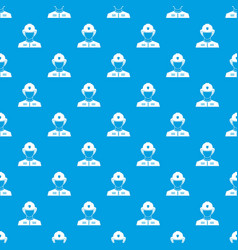 Firefighter pattern seamless blue vector