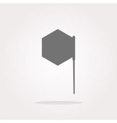 Flag sign web button icon vector