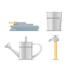 Gardening Water Equipment Flat vector