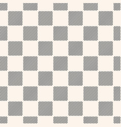 Geometric seamless pattern with stripes squares vector