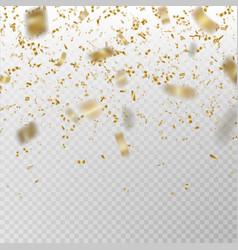 golden glitter confetti carnaval paper tin vector image