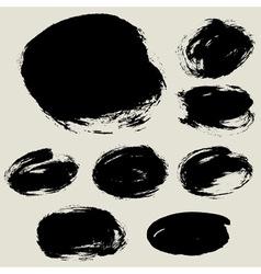 Grunge circle bg blank vector
