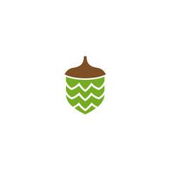 hazelnut dry fruit food green seed logo vector image