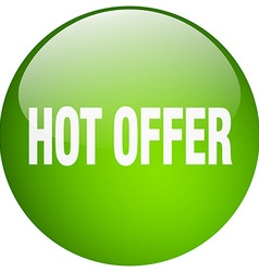 Hot offer green round gel isolated push button vector