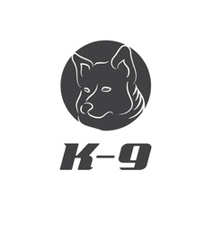 Icon k-9 with dog vector