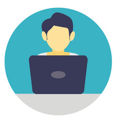 Internet surfing flat icon vector