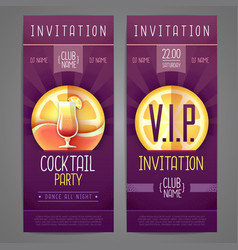 invitation design cocktail disco party poster vector image