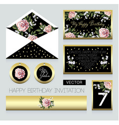 Invitation to birthday party vector
