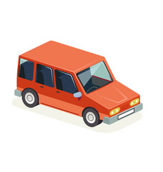 Isometric car vehicle transport icon design vector