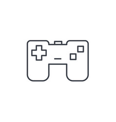 joystick gaming thin line icon linear vector image