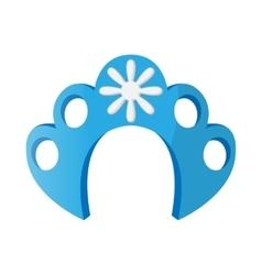 Kokoshnik icon in cartoon style vector image vector image
