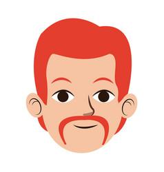Man character face avatar male portrait cartoon vector