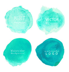 mint watercolor background pastel watercolor vector image