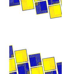 multicolor square pattern design background image vector image