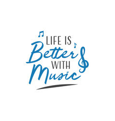 Music quote lettering typography vector