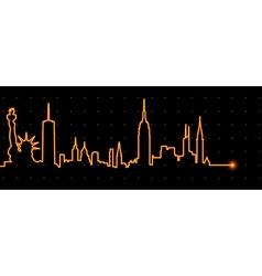 New York Cardiogram vector