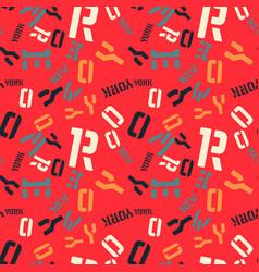 New york creative pattern vector
