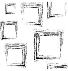 pattern black grunge squares vector image