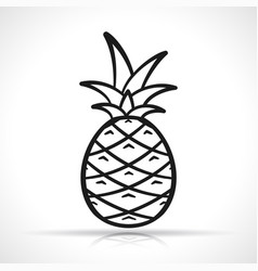 Pineapple on white background vector