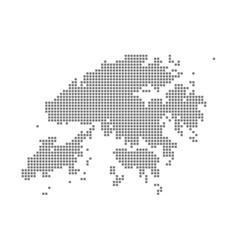 pixel map of hong kong dotted map of hong kong vector image