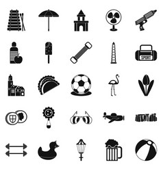 Play icons set simple style vector