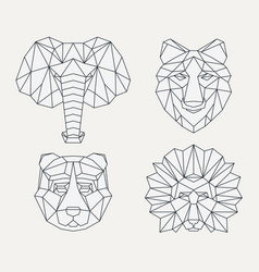 Polygonal geometric animals vector