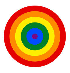 rainbow pride flag lgbt movement in circle shape vector image