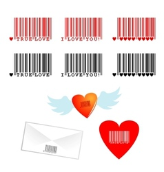 romantic barcodes vector image