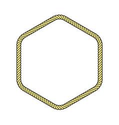 Rope frame hexagon vector