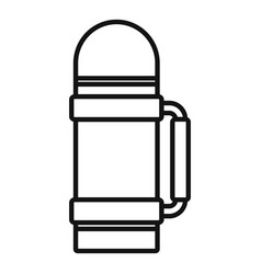 Safari hunting thermos bottle icon outline style vector