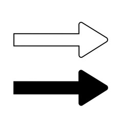 set arrows monochrome signs 1208 vector image