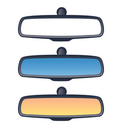 set of car rear view mirrors vector image