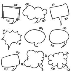Set of text bubble style collection vector