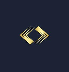 square circle shape gold logo vector image