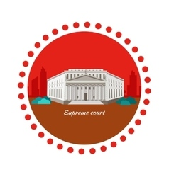 Supreme Court Concept Icon Flat Design vector image