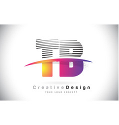 Tb t b letter logo design with creative lines vector