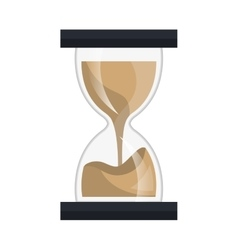 Time and clock isolated flat icon vector image