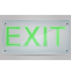 Transparent sign exit on the plate 01 vector