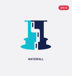 Two color waterfall icon from africa concept vector