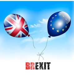 UK and EU on balloons Brexit concept vector