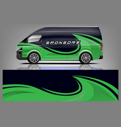 van wrap livery design vector image