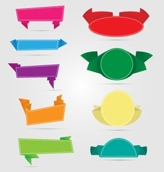 Variety of origami banners vector image