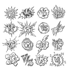 Versus sketsh labels vector