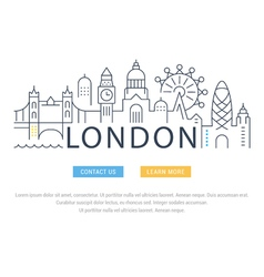 Website Banner and Landing Page London vector image