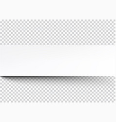 White banner on gray checkered background vector
