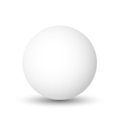 White sphere ball or orb 3d object with vector