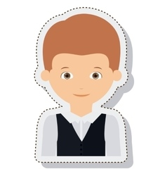 Young man male isolated vector