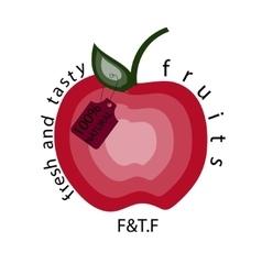 Apple natural apple logo vector image vector image