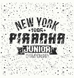 Emblem junior sport team from New York vector image